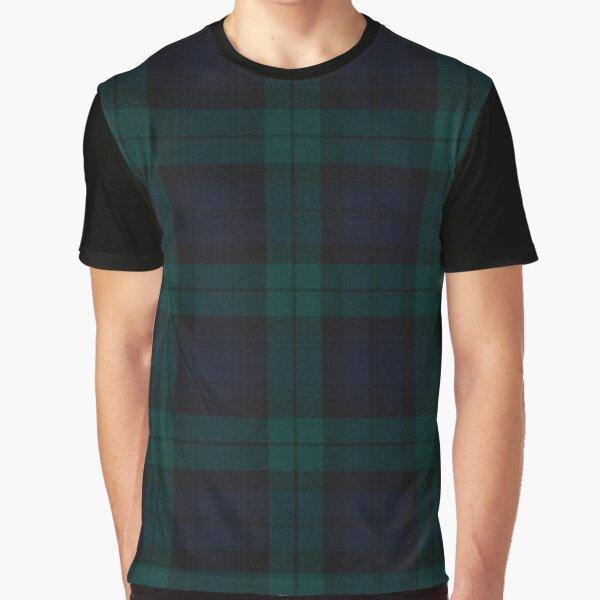 Black Watch Scottish Tartan Graphic T-Shirt