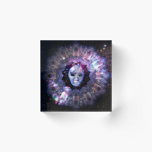 Dream Awake Cosmos Mask Acrylic Block