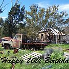 80th Birthday rustic by Coloursofnature