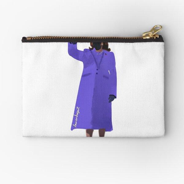 Vice President Kamala Harris Inaguration Purple Coat sticker design  Zipper Pouch