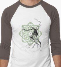 Celtic world tree ink drawing Men's Baseball ¾ T-Shirt