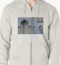 Colorful mosaic facade from mosque. Zipped Hoodie