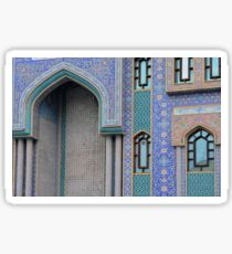 Colorful mosaic facade from mosque. Sticker