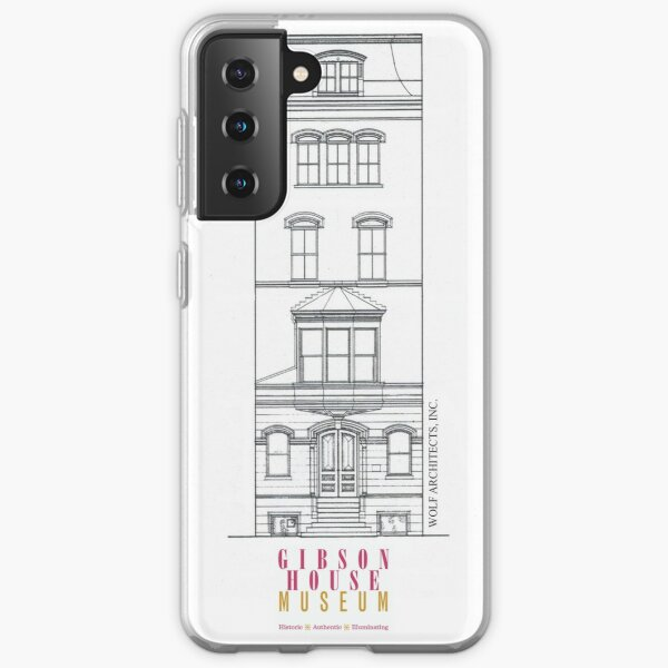 Gibson House Museum Architectural Outline  Samsung Galaxy Soft Case