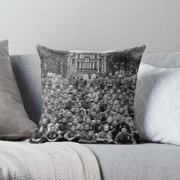 WWII soldiers Throw Pillow