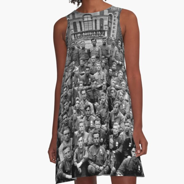 WWII soldiers A-Line Dress