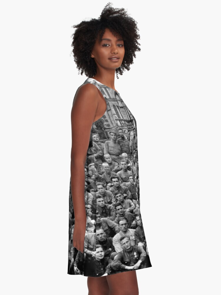 Alternate view of WWII soldiers A-Line Dress