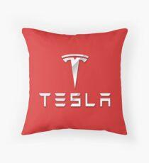 Tesla logo 2 Throw Pillow
