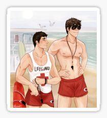 Kiyoshi + Daichi - LifeGuard AU Sticker