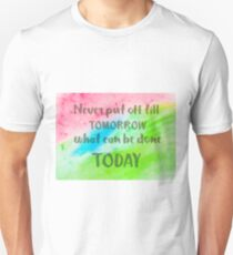 Inspirational abstract water color background T-Shirt