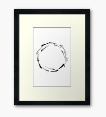 Sumi ink fishes enso Framed Print