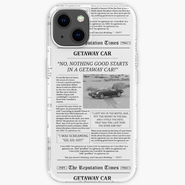Getaway Car Newspaper iPhone Soft Case