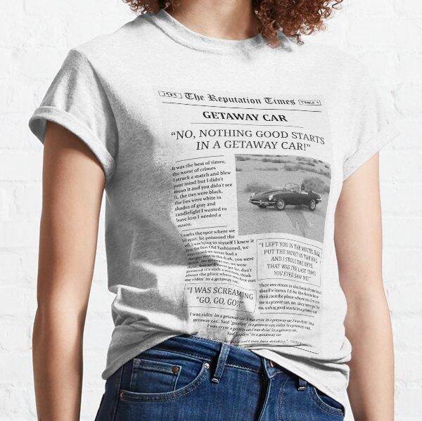 Getaway Car Newspaper Classic T-Shirt
