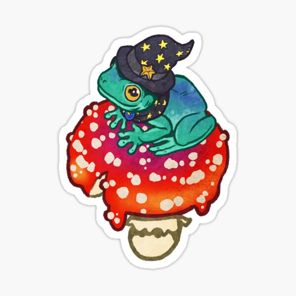 Magical Frog Witch Sticker