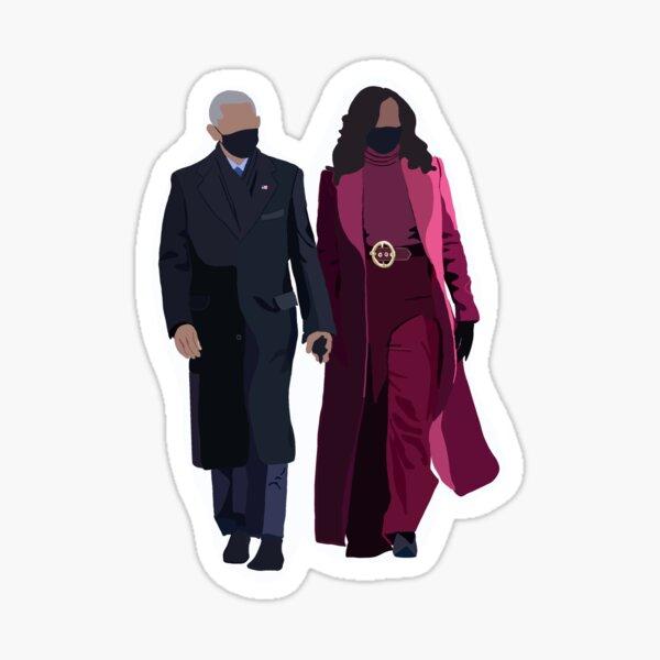 Michelle and Barack Obama  2021 inauguration  Sticker