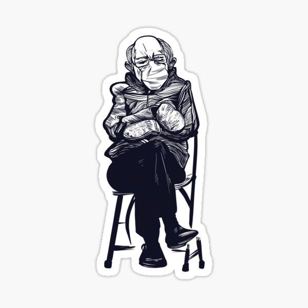 Sitting Bernie  Sticker