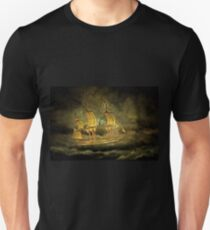 A Sailing Ship Fighting a Storm in the 19th century Unisex T-Shirt