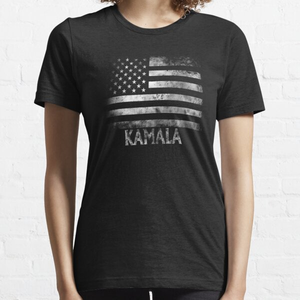 Kamala Stars and Stripes Flag Grunge Election Essential T-Shirt