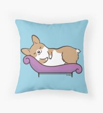 Sleeping Corgi Throw Pillow