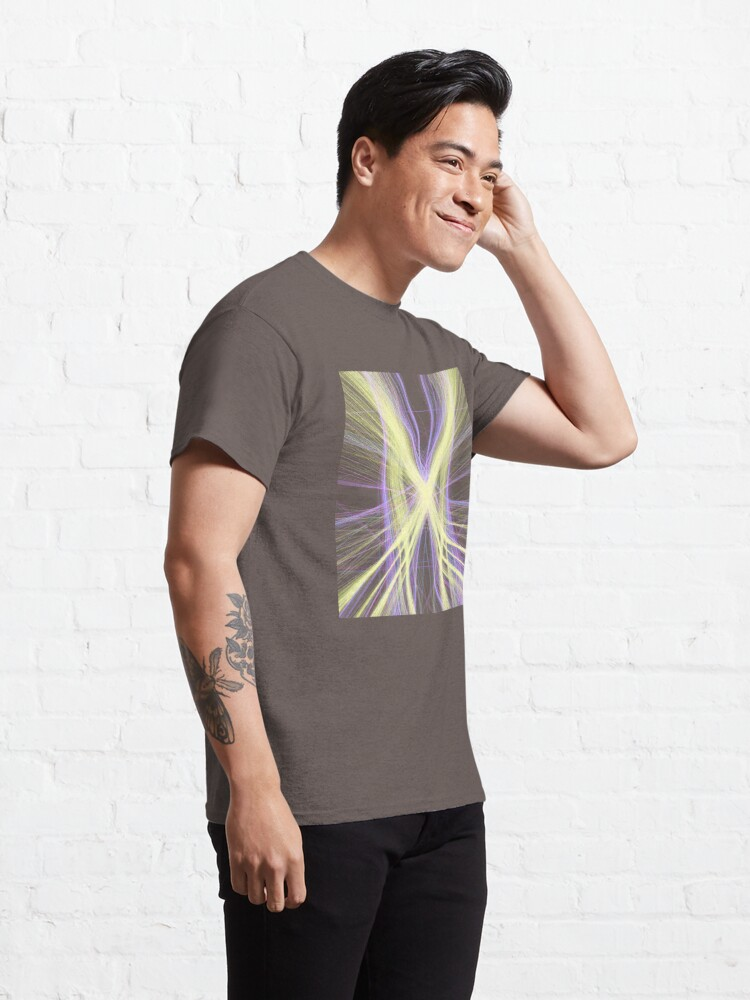 Alternate view of Linify Yellow butterfly Classic T-Shirt