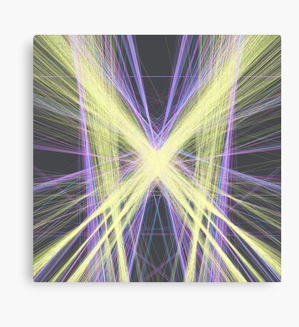 Linify Yellow butterfly Canvas Print