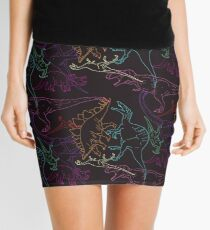 Psychedelic Dino Mini Skirt