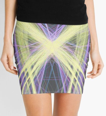 Linify Yellow butterfly Mini Skirt