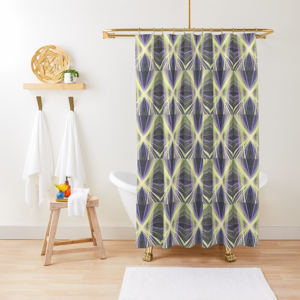 Linify Yellow butterfly Shower Curtain