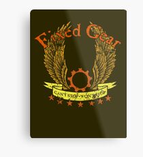Fixed Gear - Cant Stop Wont Stop Metal Print