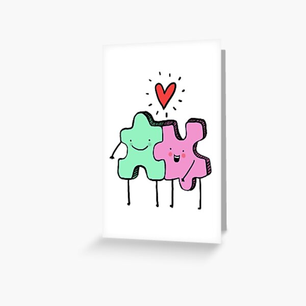 Perfect fit Greeting Card