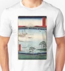Kuroto No Ura In Kazusa Province - Hiroshige Ando - 1858 - woodcut Unisex T-Shirt