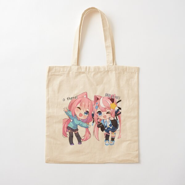 Anime Hello There have a nice day Cotton Tote Bag