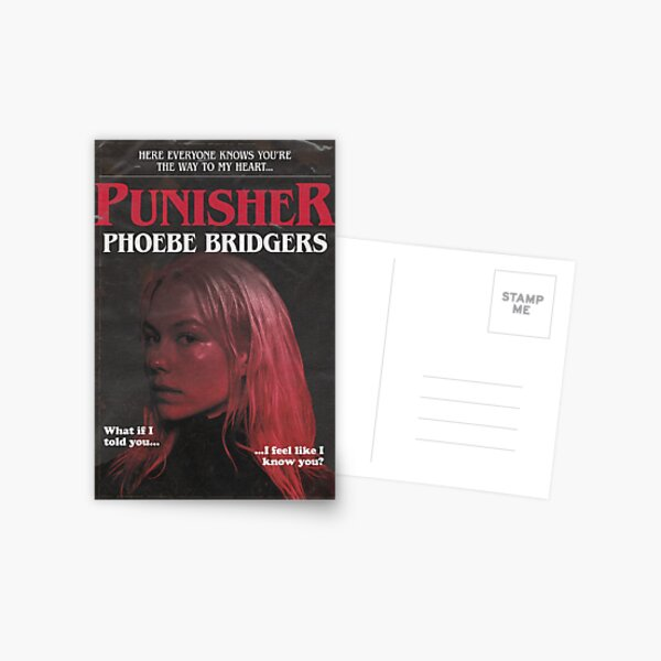Punisher by Phoebe Bridgers But It's a 1980s Stephen King Novel Postcard