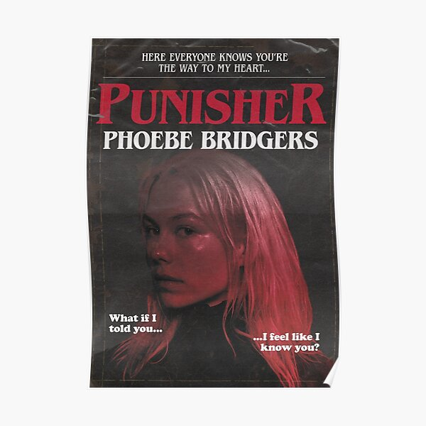 Punisher by Phoebe Bridgers But It's a 1980s Stephen King Novel Poster