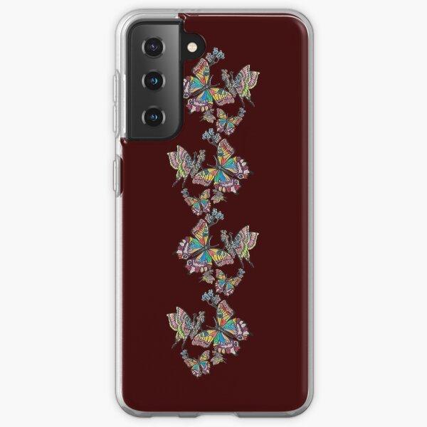 D1G1TAL-M00DZ ~ FOLKART ~ Crayon Butterflies by tasmanianartist 05012021 Samsung Galaxy Soft Case
