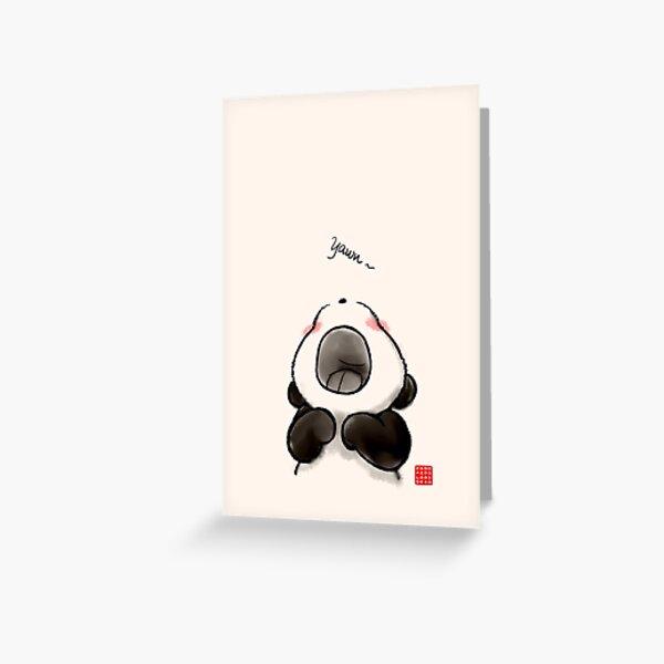 Yawn~ Greeting Card