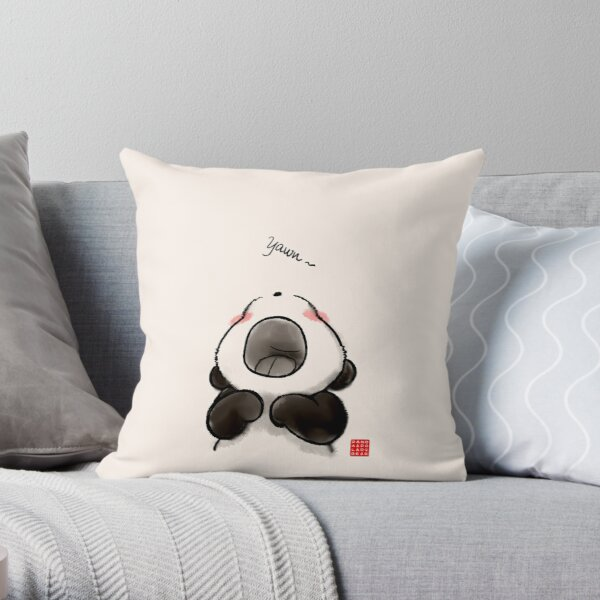 Yawn~ Throw Pillow