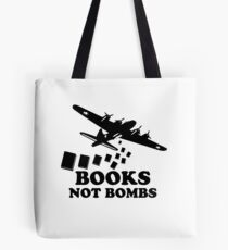Funny Books Not Bombs Tote Bag