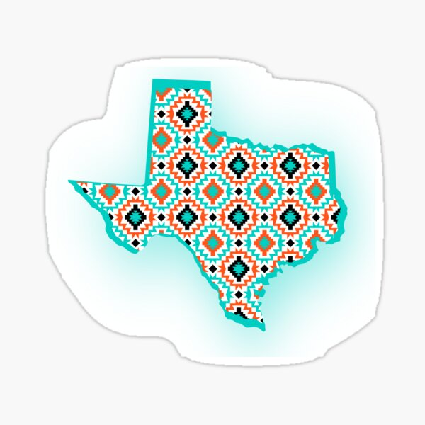 Texas State - Native American Indian Pattern Sticker