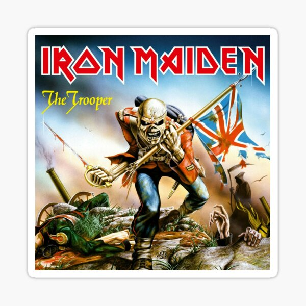 MEILLEUR À ACHETER - Maiden The Trooper Sticker