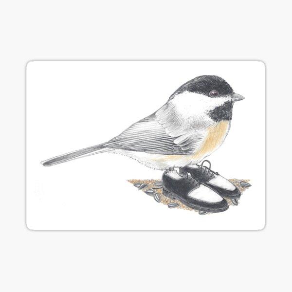 Chickadee in retro two tones Sticker