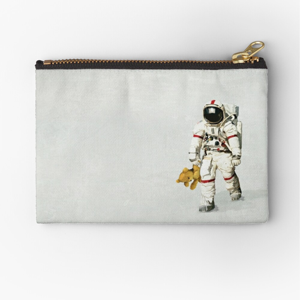 Space can be lonely Zipper Pouch