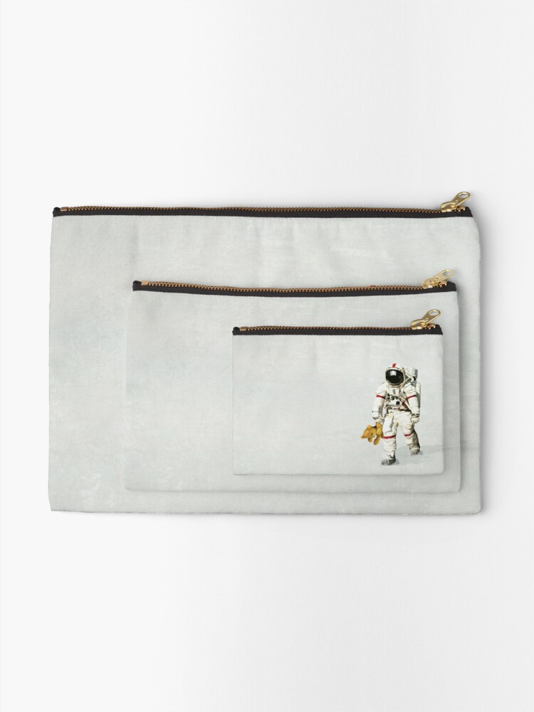 Alternate view of Space can be lonely Zipper Pouch