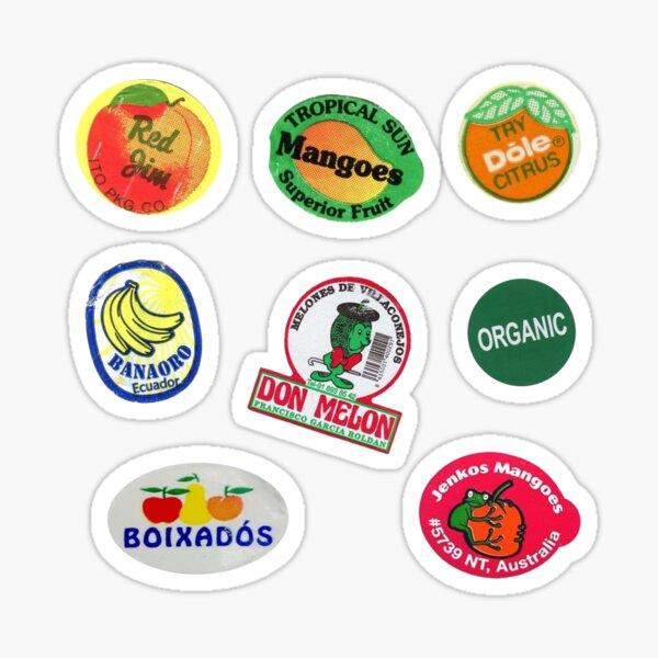 Retro Fruit Sticker Labels Vintage Sticker Pack Sticker