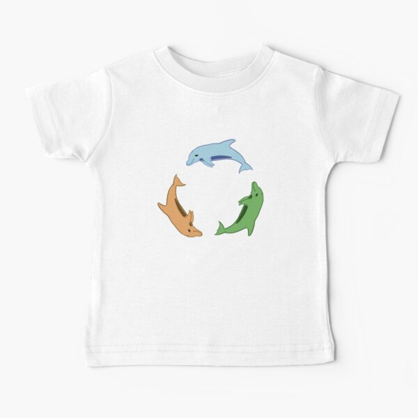 Tricolour Dolphin Circle by Moti for the West Braes Project Baby T-Shirt