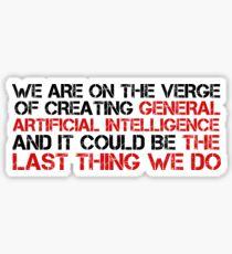 Pegatina AI Artificial Intelligence Danger Elon Musk GAI