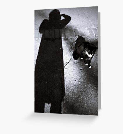 Shooting shadow Greeting Card
