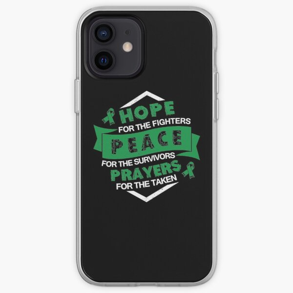 Hope Peace Prayers- Depression Awareness Gifts for Women Depression Support Ribbon iPhone Soft Case