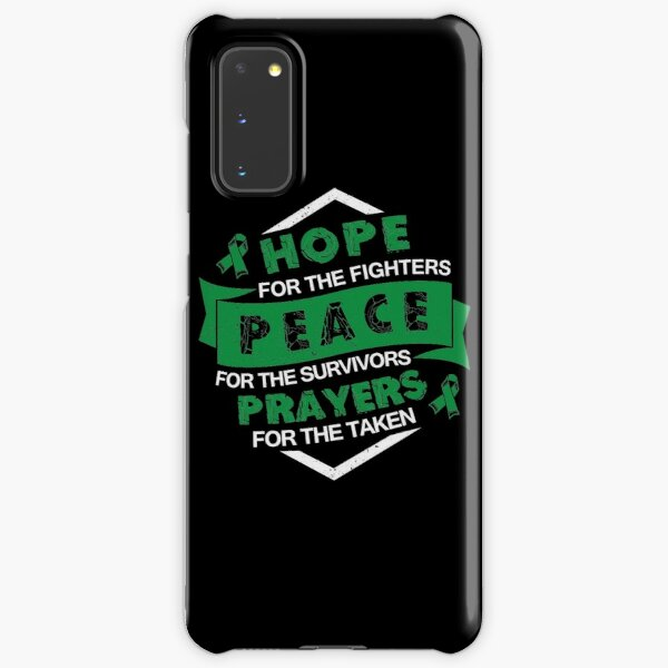 Hope Peace Prayers- Depression Awareness Gifts for Women Depression Support Ribbon Samsung Galaxy Snap Case