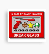 In case of Gamer Invasion Canvas Print